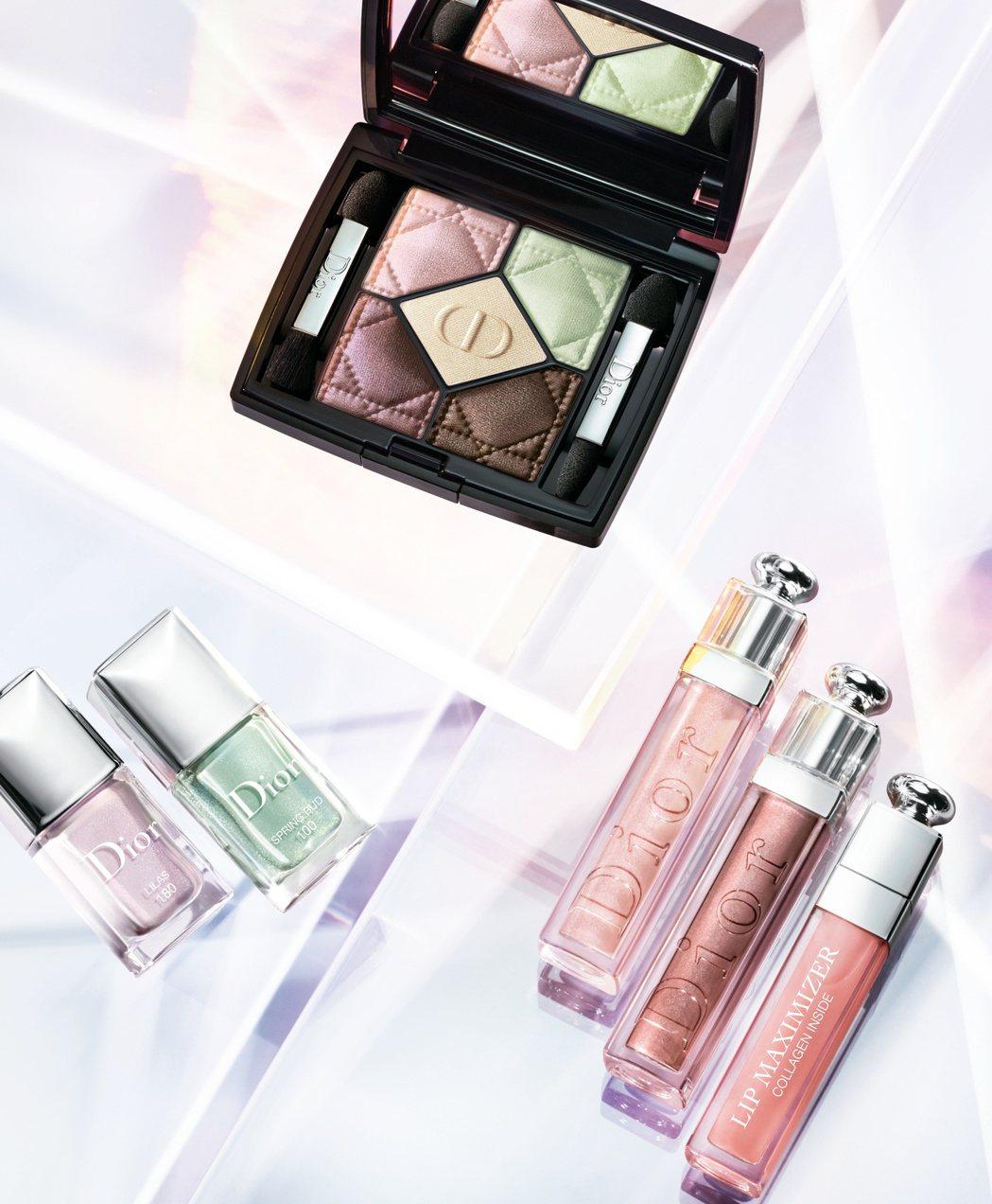 迪奧全新的雪晶靈限量彩妝系列,為春日帶來時尚清新的粉嫩光采。圖/迪奧提供