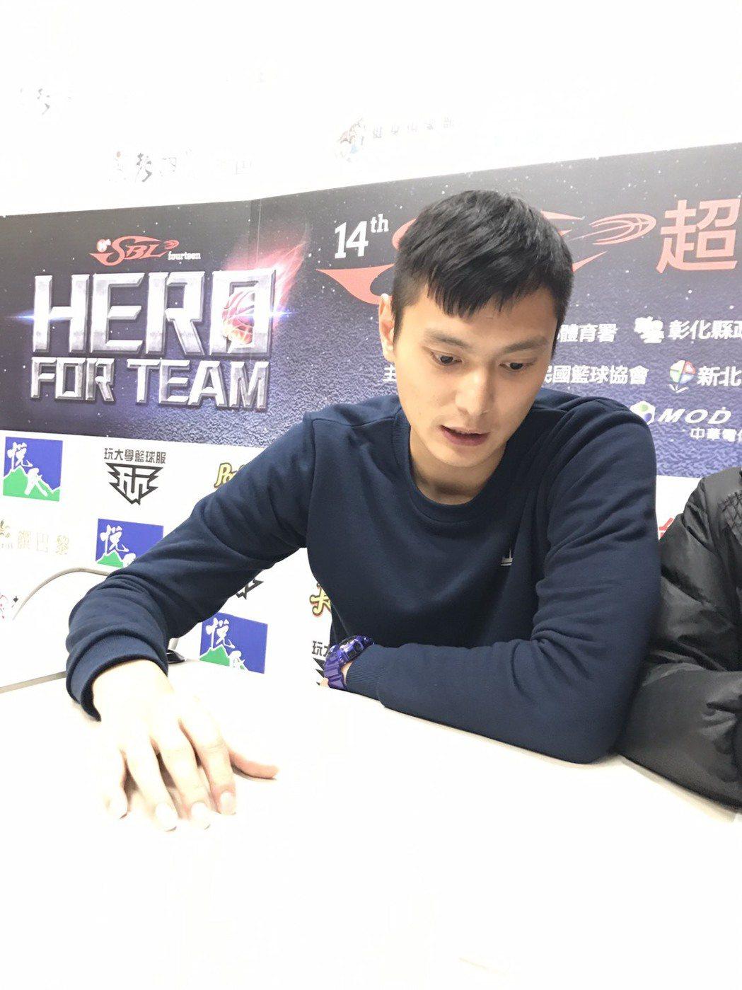 陳子威宣布將在季後結束球員生涯。記者劉肇育/攝影