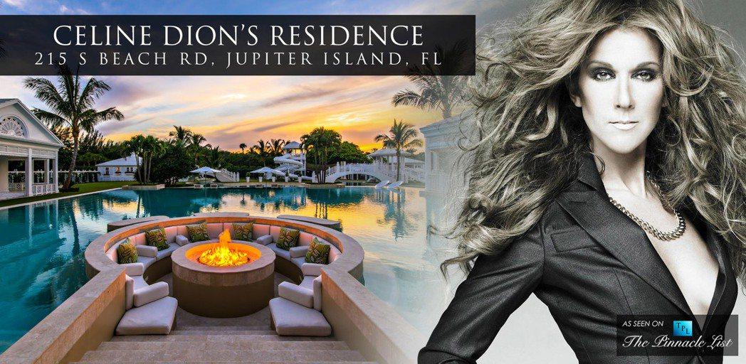 加拿大天后歌手席琳狄翁以近原來半價求售位在美國佛羅里達州朱庇特島的房產。(網路圖...