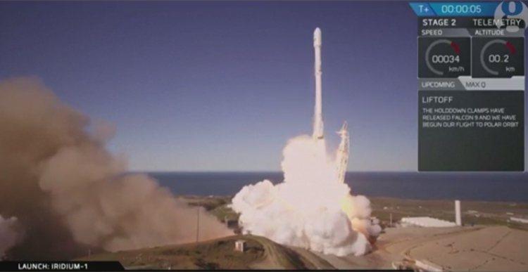 美國「太空探索科技公司」(SpaceX)火箭「獵鷹9號」(Falcon 9)14...