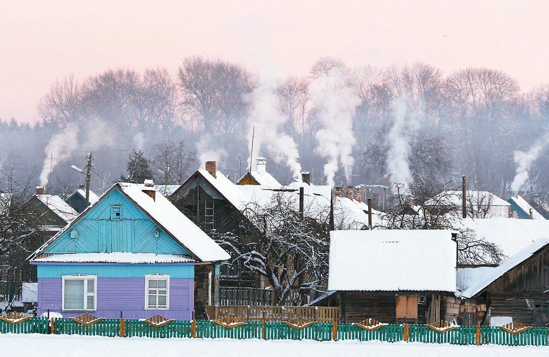 白俄羅斯向80國推出5天免簽待遇,行銷平靜不匆促的觀光氣氛。圖為嚴寒中的白俄小村...