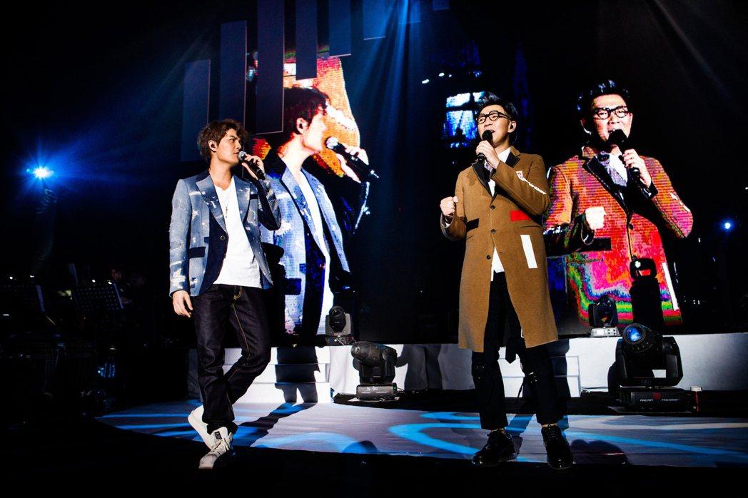 品冠上海開唱,吳克群(左)助陣當嘉賓。圖/種子音樂提供
