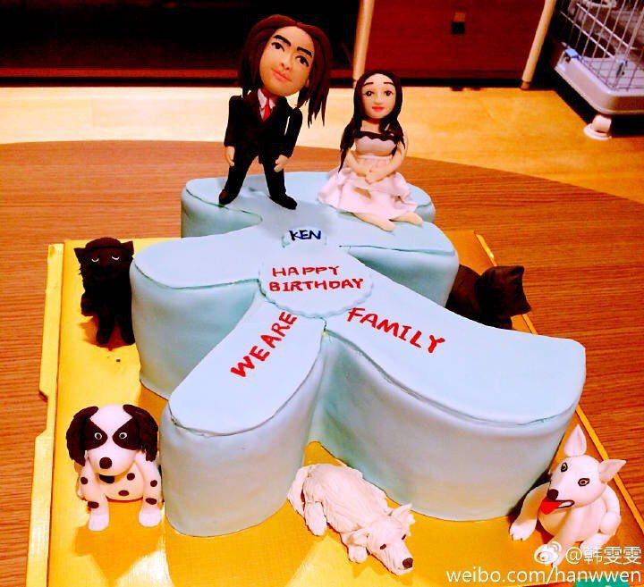 韩雯雯一口气秀出3年来送老公的?糕,充满甜蜜爱?。图/摘自韩雯雯微博