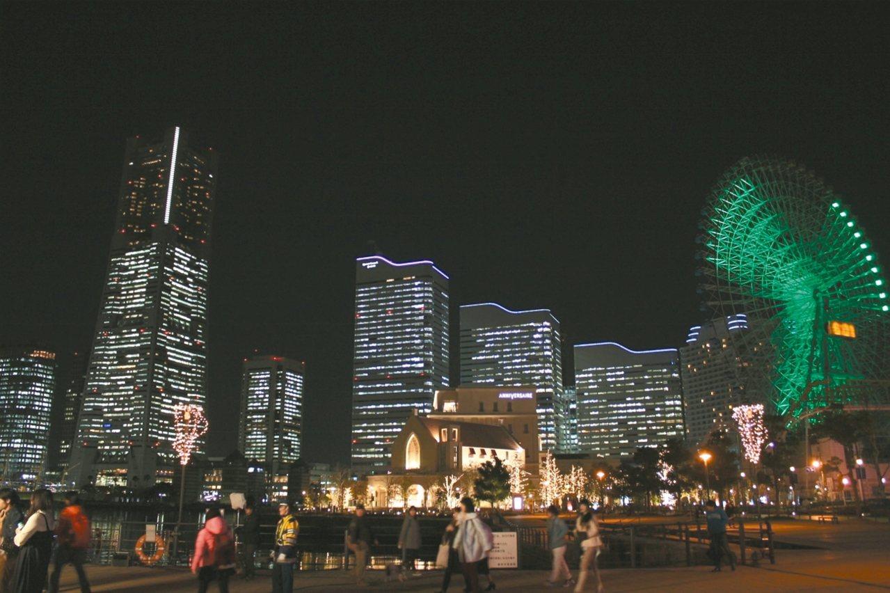 橫濱夜景。 攝影/步璃