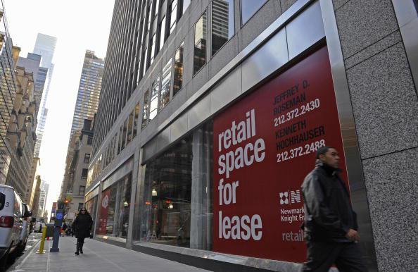 經濟環境差,導致曼哈頓辦公樓出租率創七年新低。(Getty Images)