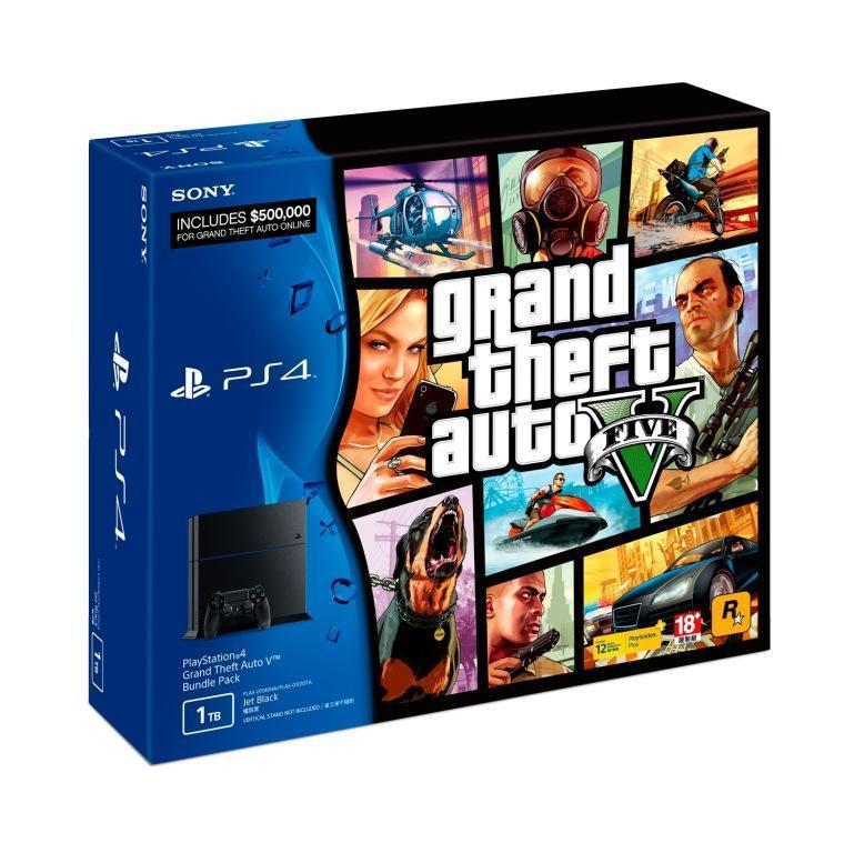 PlayStation4(PS4)俠盜獵車手5 新年享樂同捆組。圖擷自SONY ...