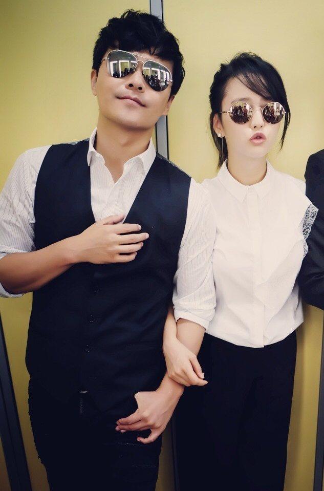 佟麗婭與陳思誠。 圖/擷自微博