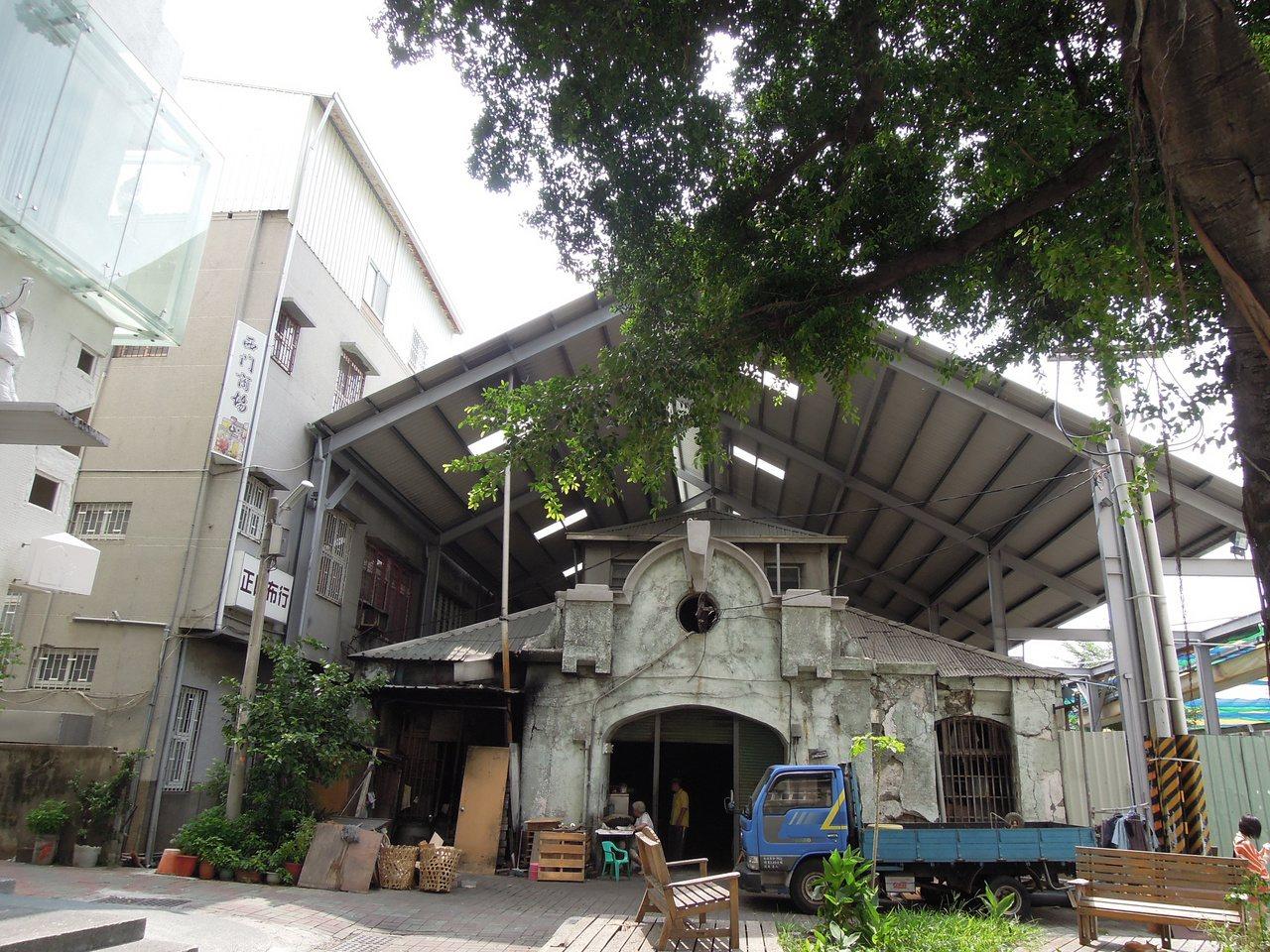 目前僅存的西市場部分舊建築。