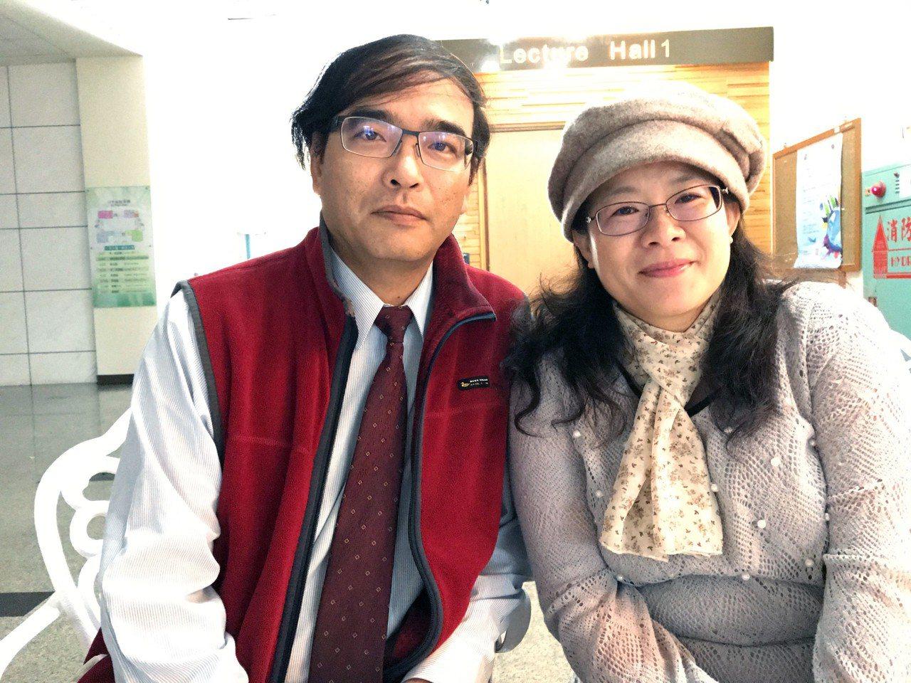 夫妻檔孔繁賢、林惠婷。記者周宗禎/攝影