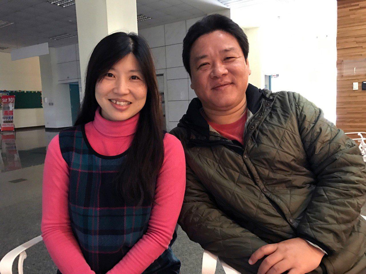 夫妻檔胡俊賢、林芳如。記者周宗禎/攝影