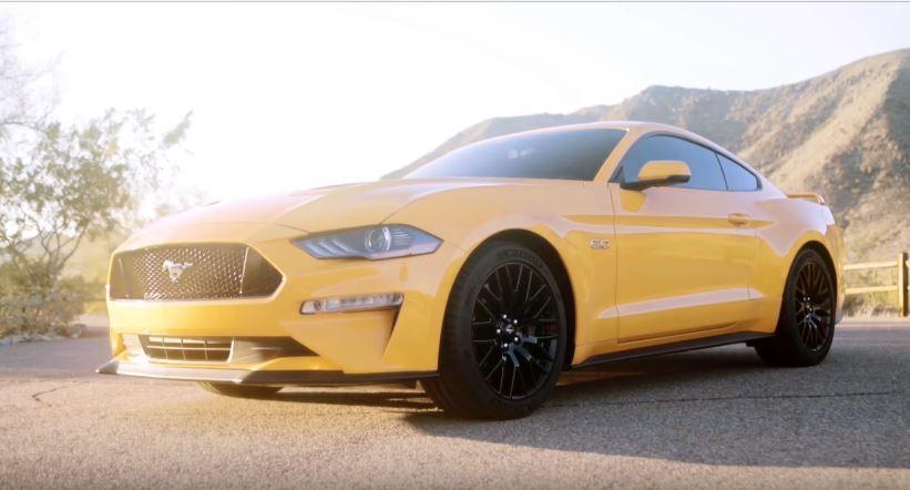 近日網路上流傳一段影片,意外曝光 2018 年式小改款 Ford Mustang。 摘自 Yourtube