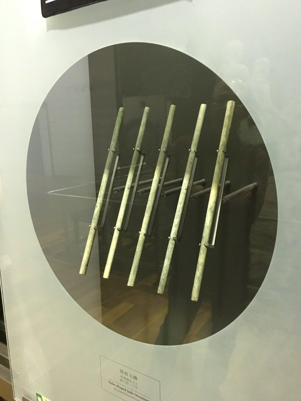 史前馆国宝玉管,长?29公分,钻凿技艺惊人。记?何定照/摄影
