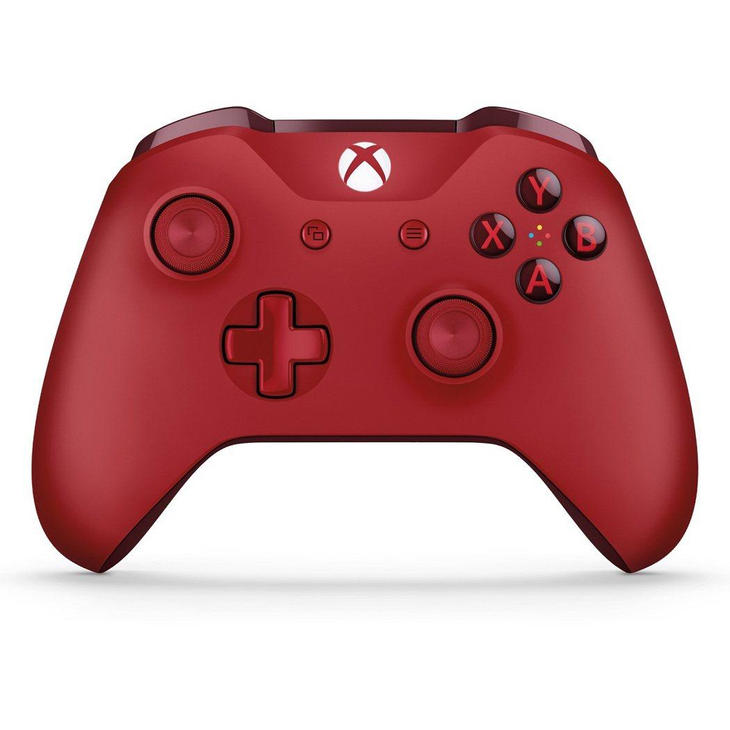 Xbox One特別版藍牙紅色無線控制器。圖/微軟提供