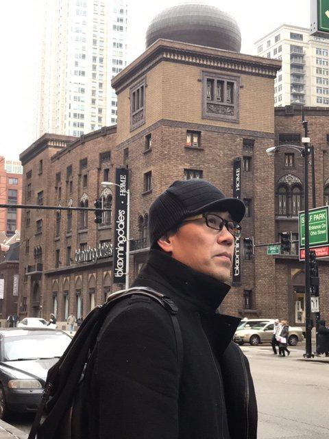 罗?丰在芝加哥演出兼观光。图/罗?丰经纪人提供