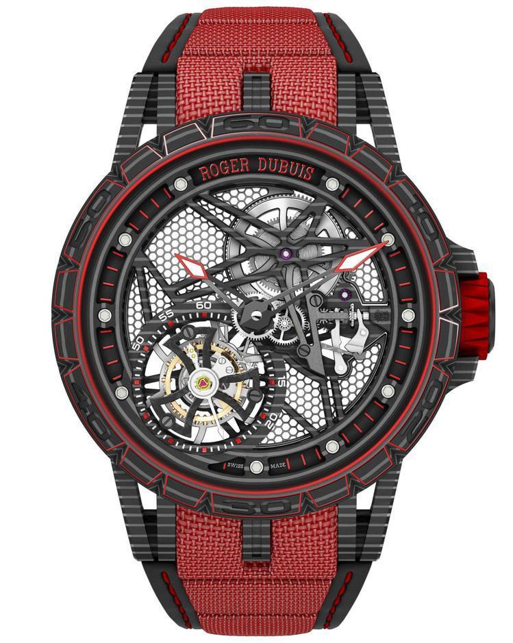 Excalibur Spider王者之劍Spider系列碳纖維飛行陀飛輪腕表,限...
