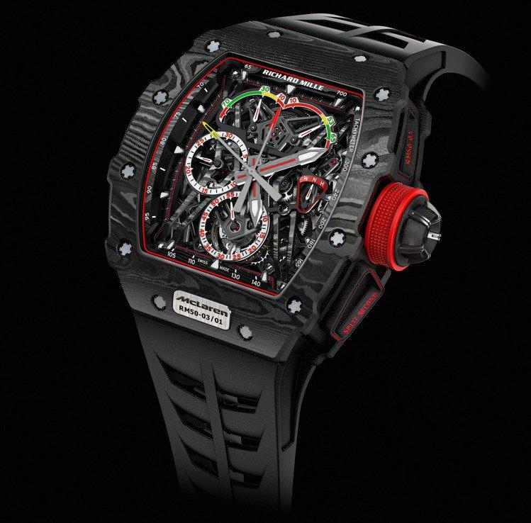 Richard Mille RM50-30雙秒追針陀飛輪計時碼表,約100萬瑞士...