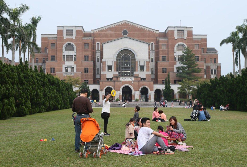 圖為台大校園內圖書館。記者許正宏/攝影