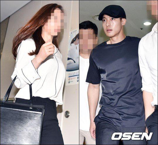 金賢重前女友崔女(左)以假證據對金賢重(右)提告,如今被南韓檢方揭發。圖/摘自O