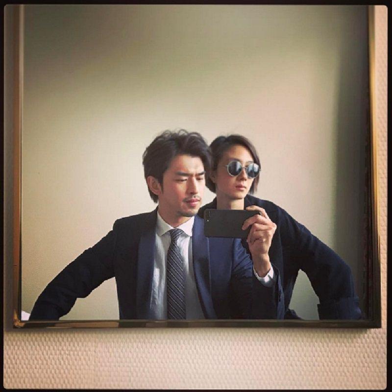 陳柏霖(左)與桂綸鎂都在日內瓦參加2017日內瓦高級鐘表展,多年好友趁空檔小聚。...