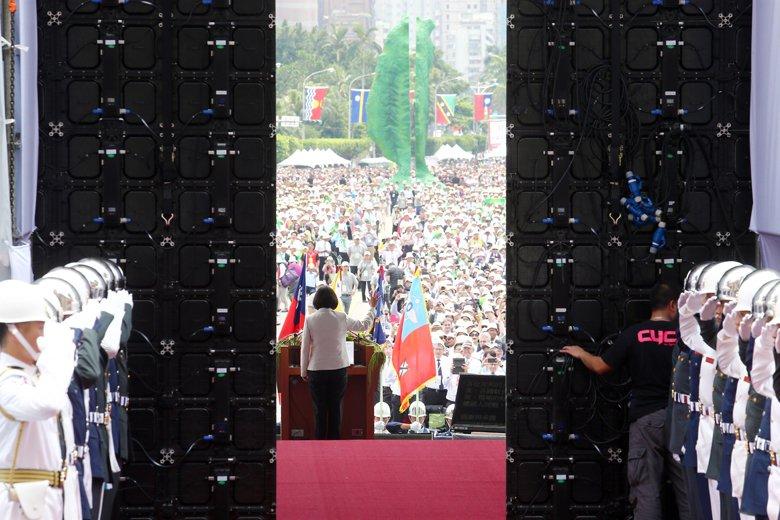 圖為2016年5月20日蔡英文總統就職典禮。 圖/聯合報系資料照片