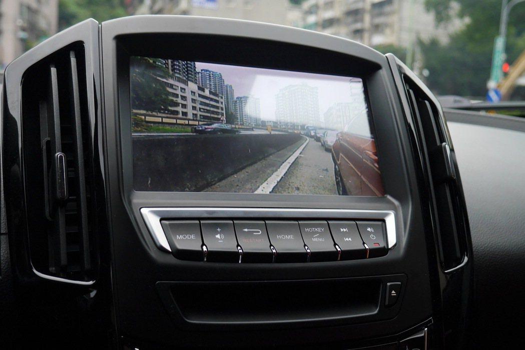 Side View車側安全影像輔助系統。 記者陳威任/攝影