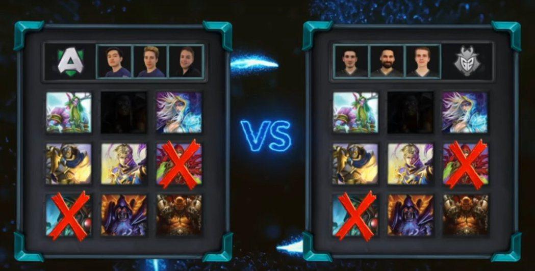 G2 vs. Alliance,雙方的B/P情況。 圖/賽事VOD