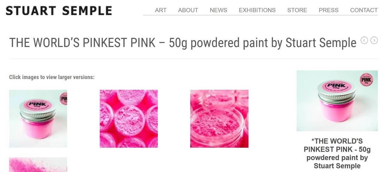 史都華.桑普「PINK」販售頁面。圖/截圖自stuartsemple。