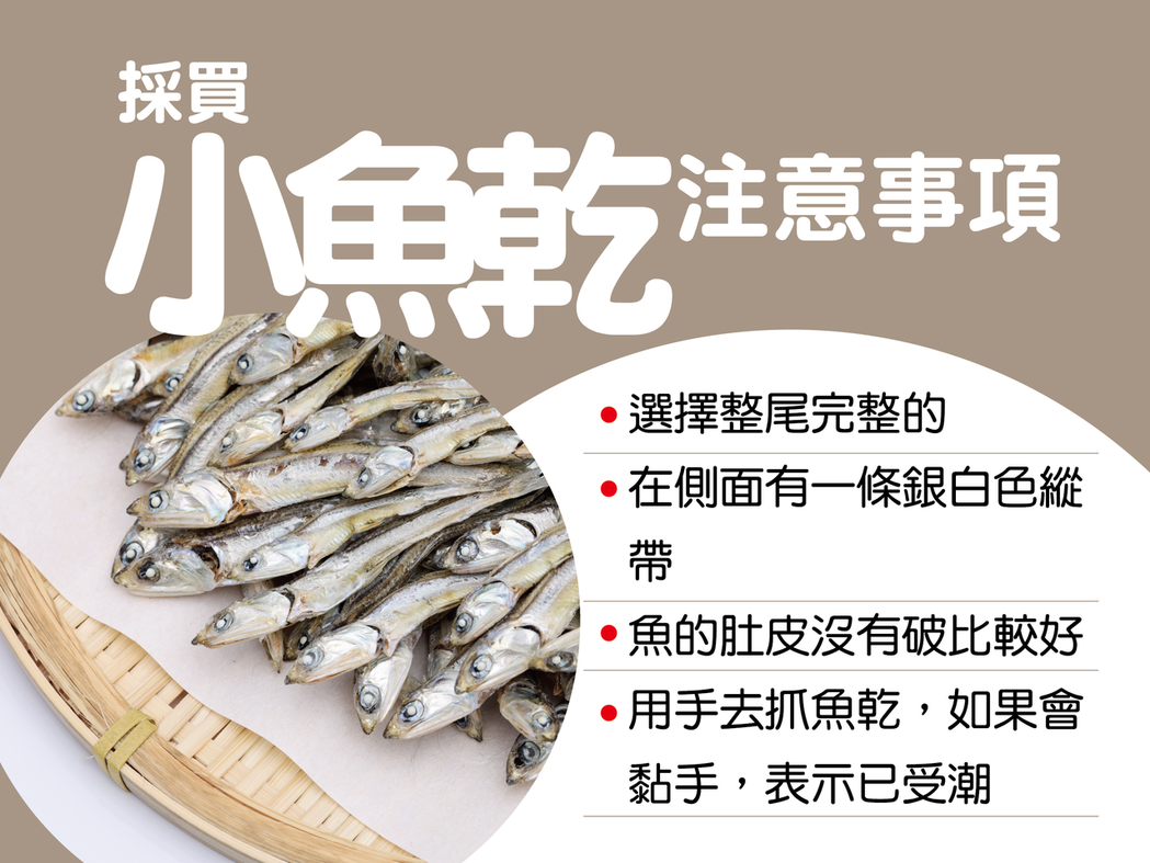 採買小魚乾注意事項。圖/衛生局提供