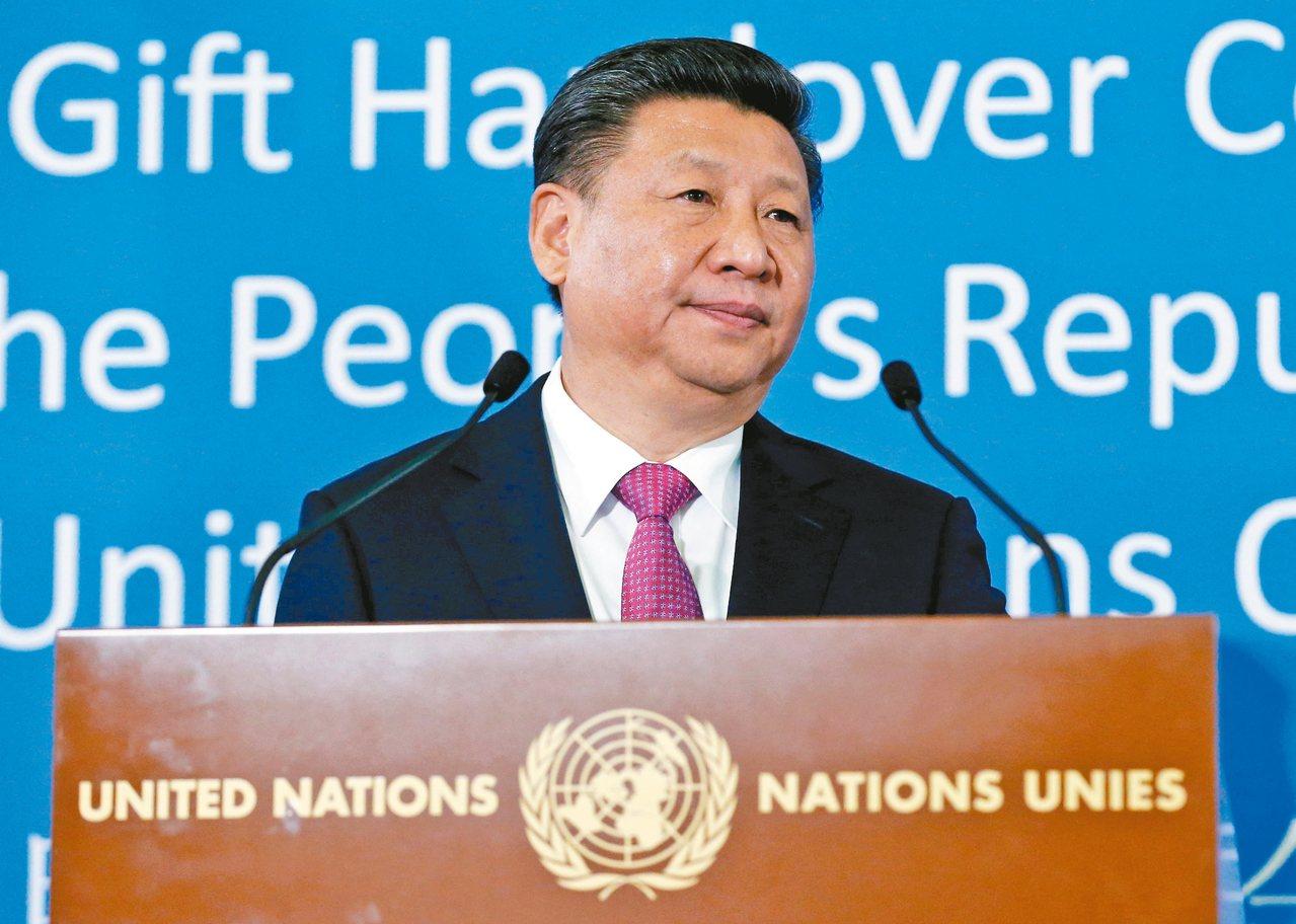 大陸國家主席習近平十八日致贈禮物給日內瓦聯合國總部;他並發表專題演講。 路透