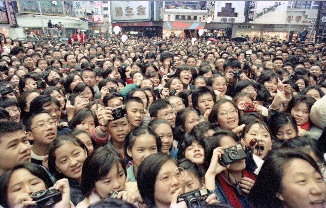廣大影迷來爭睹香港帥哥的丰采。圖/聯合報系資料照片