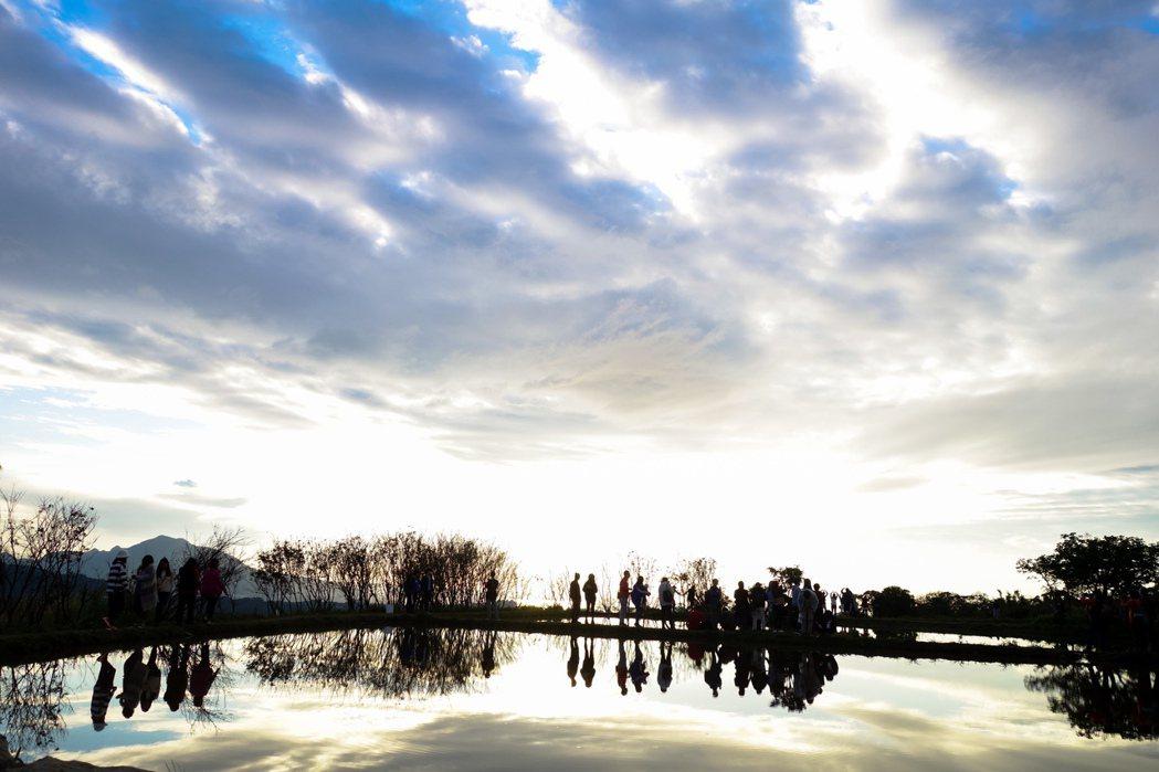三芝水中央。記者林伯東/攝影
