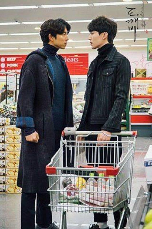 人氣男星孔劉(左)也有182公分。圖/摘自鬼怪臉書