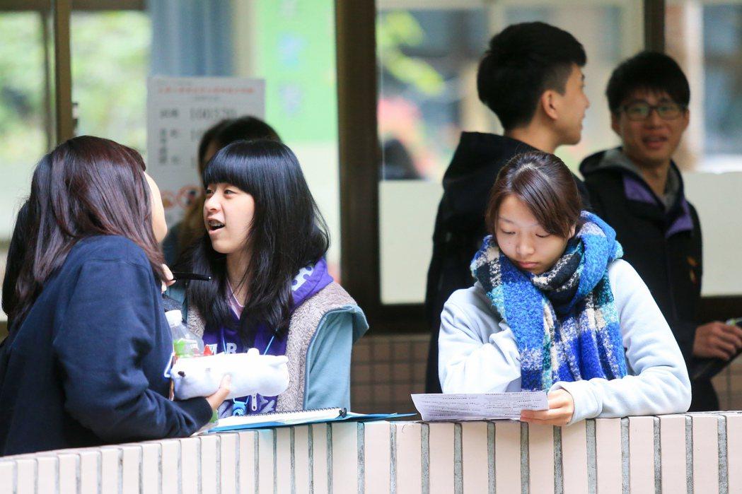 受到強烈大陸冷氣團影響,今天全台低溫都在11至13℃之間,大學學測舉行第二天考試...