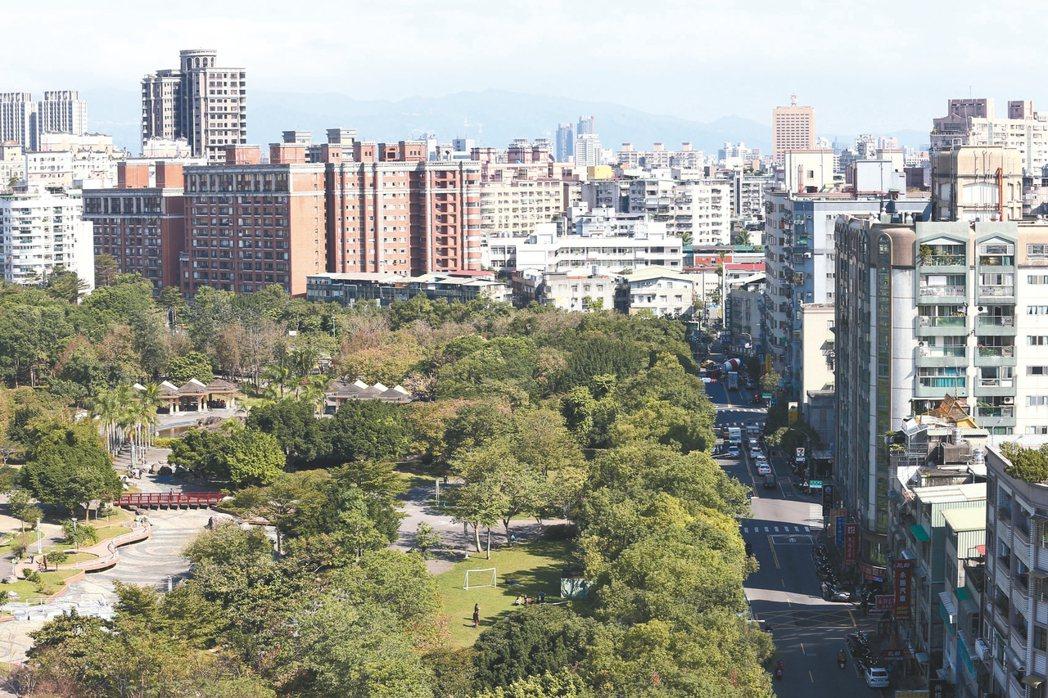 新北市四號公園周邊環境清幽、交通便利。 記者杜建重/攝影