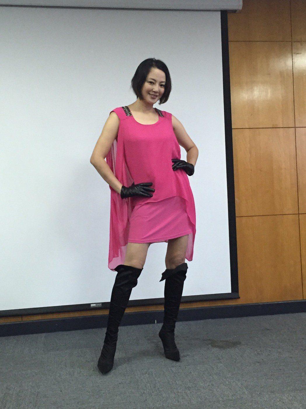 傅天穎積極復出演藝圈,最近還減肥3公斤,秀出修長美腿。記者陳慧貞/攝影