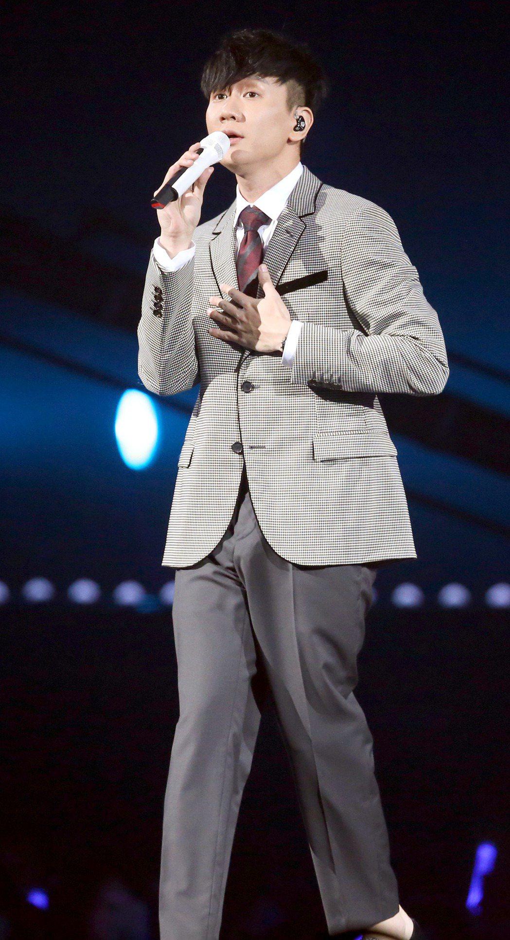 林俊傑在KKBOX風雲榜演唱。記者屠惠剛/攝影