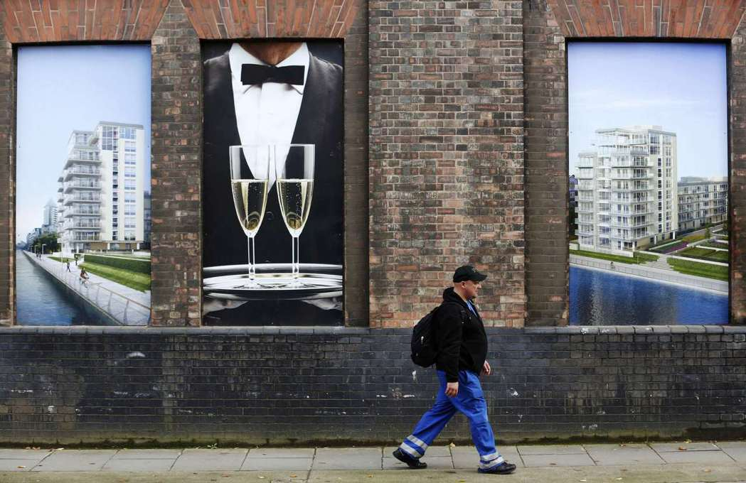 英國預售屋廣告。(路透)