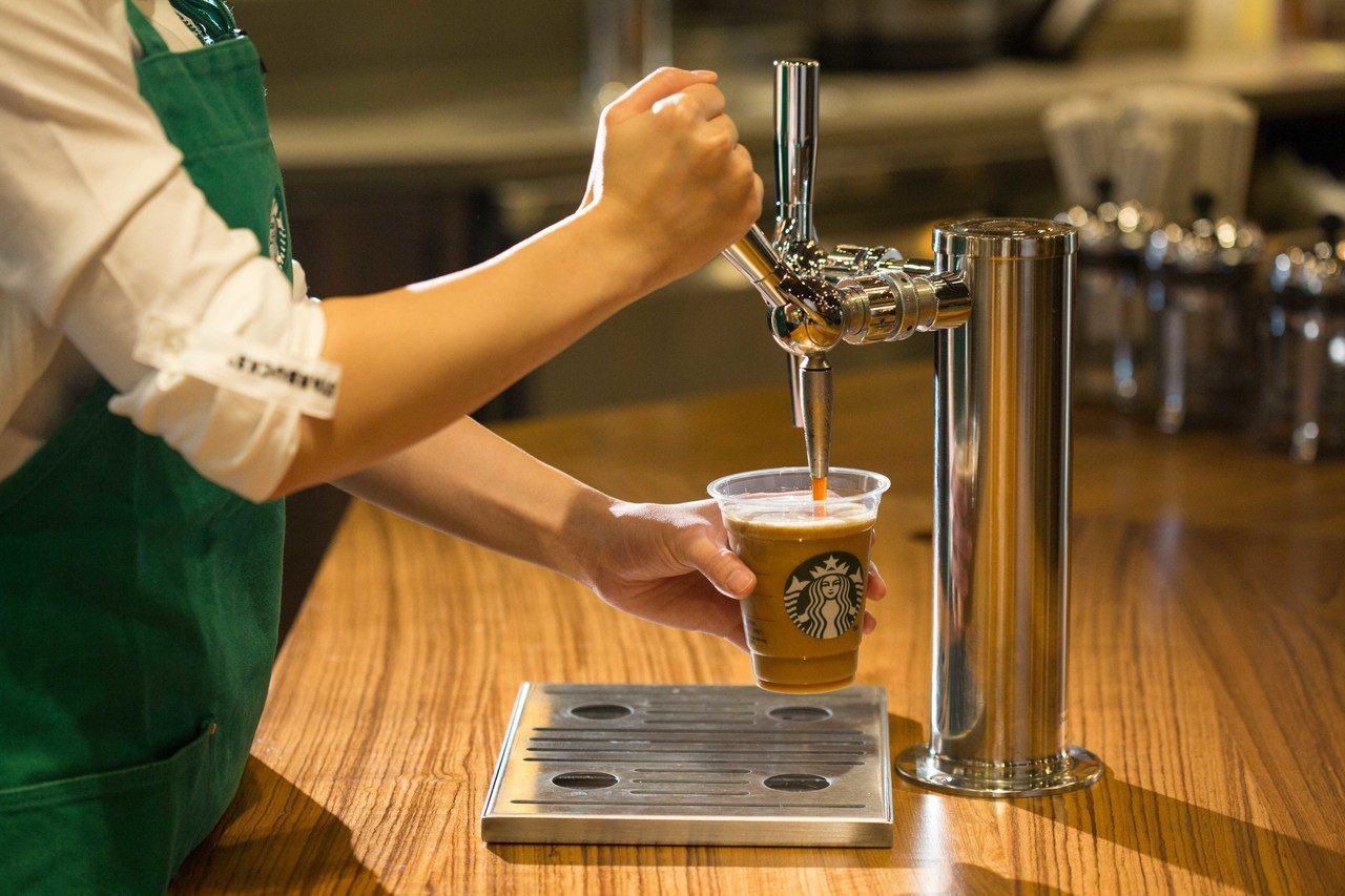 典藏氮氣冷萃咖啡,將氮氣注入低溫慢速萃取咖啡,售價230元至280元。統一星巴克...