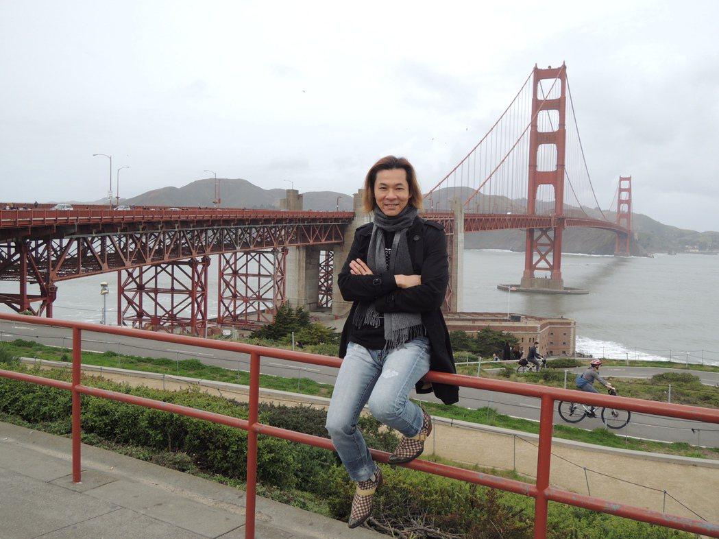 楊培安到美國當觀光客。圖/星葳娛樂提供