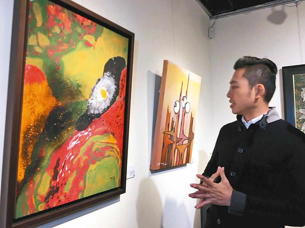 新竹市風城美展揭幕,市長林智堅歡迎市民趁年節走春賞畫。 記者蔡昕穎/攝影