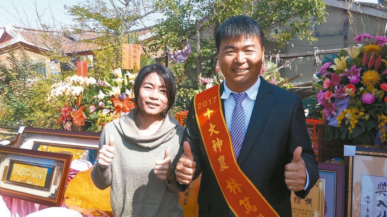 林篤毅昨舉辦烏魚子創意料理感恩餐會,感謝鄉親的支持。 記者卜敏正/攝影