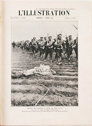 圖3:法國環球插畫雜誌,「去前線的路: 滿洲戰場一景」,柏拉攝,1905年。...