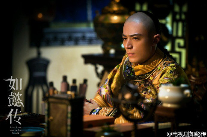 「如懿傳」公開劇照,霍建華扮演乾隆皇英氣逼人。圖/摘自微博