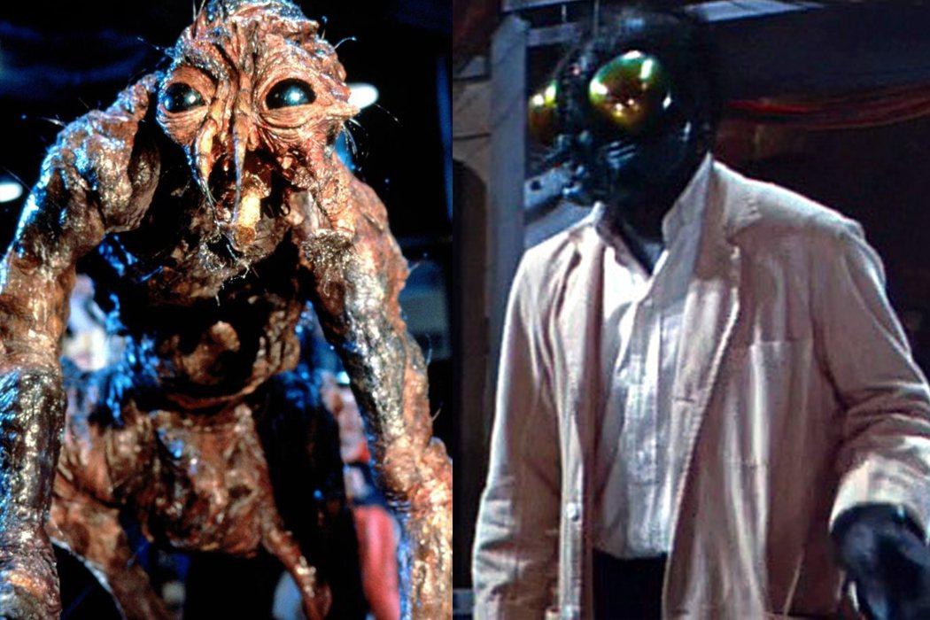 原版「變蠅人」對怪物的想像較傳統,當時由傑夫葛布倫飾演的「變蠅人」造型很驚人。圖