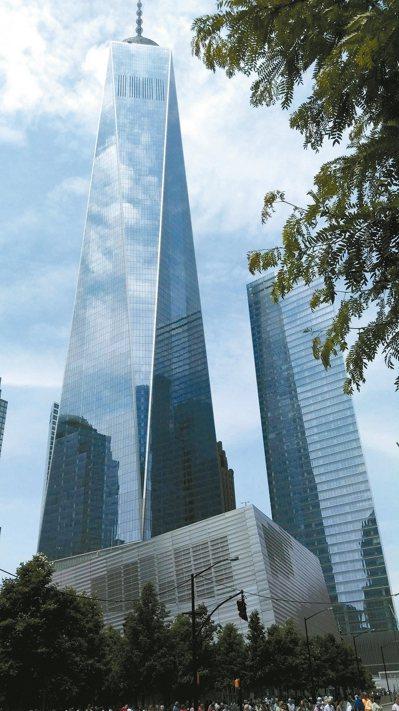矗立在曼哈頓的自由塔。 馮平/攝影