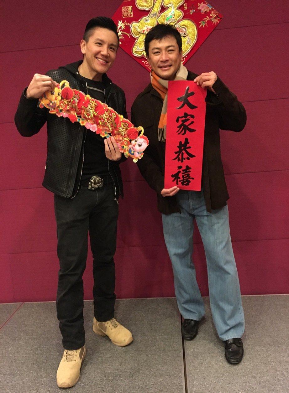 孫國豪(左) 和江宏恩是小時候玩伴現在同公司  圖/艾迪昇提供