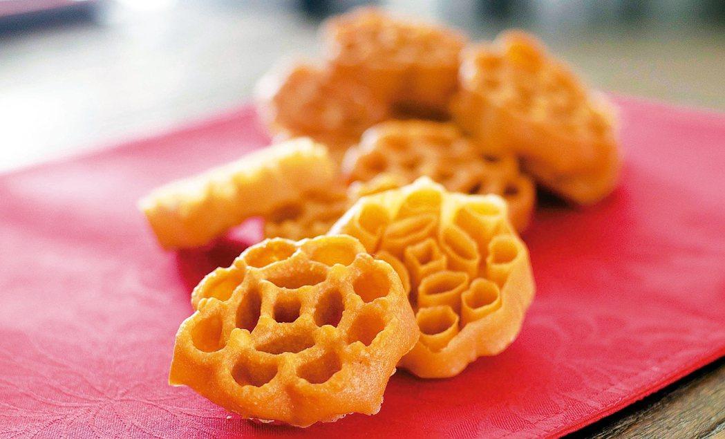 「蜜蜂窩」由糖環演變而成,娘惹在粉漿中加入椰漿,所以食味額外香濃。 圖/各業者提...
