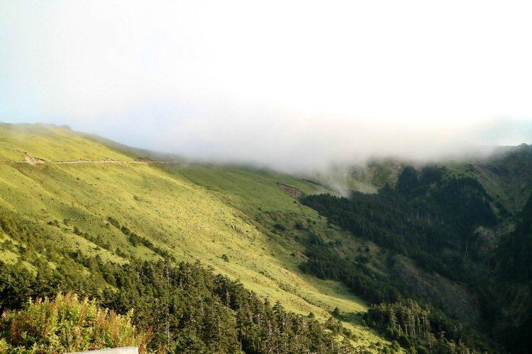 合歡山的氣象變化莫測。 記者史榮恩/攝影
