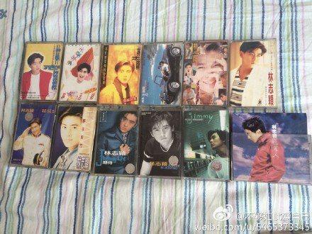粉絲曬出收藏的林志穎卡帶。 圖/擷自微博