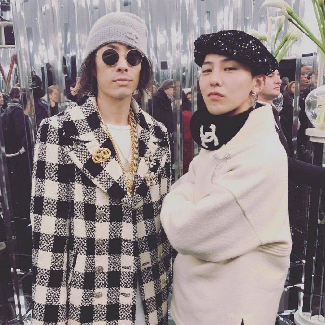 吳建豪(左)與GD(右)在巴黎相見歡。 圖/環球音樂